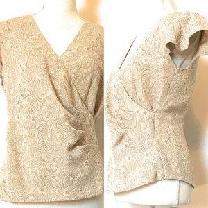 Studio C blouse, Sz 8, short sleeve